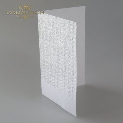 Baza do kartki BDK-023 - 185x107 mm * Biel naturalna-kwiatki