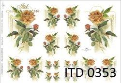 Papier decoupage ITD D0353
