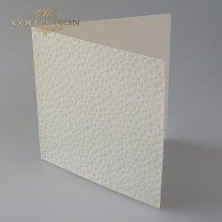 Baza do kartki BDK-020 - 150x150 mm * KREMOWA-kropki