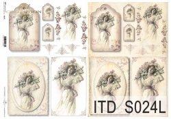 Papier decoupage SOFT ITD S0024L