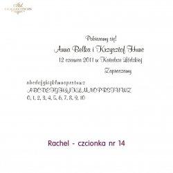 Czcionka na zaproszenie 14