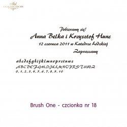 Czcionka na zaproszenie 18