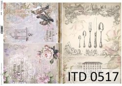 Papier decoupage ITD D0517