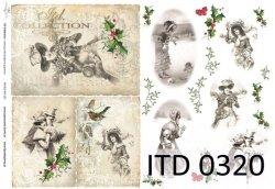 Papier decoupage ITD D0320