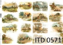 Papier decoupage ITD D0571