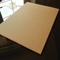 .Papier do scrapbookingu kolor brąz taktura falista A4 * PSS006