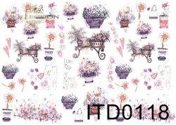 Papier decoupage ITD D0118