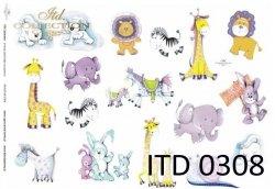 Papier decoupage ITD D0308