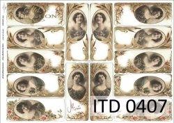 Papier decoupage ITD D0407