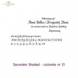Czcionka na zaproszenie 21