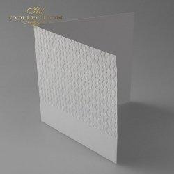 Baza do kartki BDK-022 - 150x150 mm * SZARA-romby