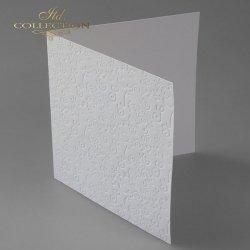 Baza do kartki BDK-016 150x150 mm * Biel naturalna-esy floresy
