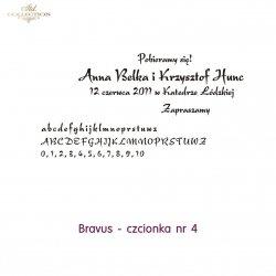 Czcionka na zaproszenie 04