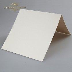 Baza do kartki 152x152 mm * Kremowa-opalizująca