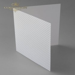 Baza do kartki BDK-017 - 150x150 mm * Biel naturalna-kwadraciki