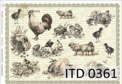 Papier decoupage ITD D0361