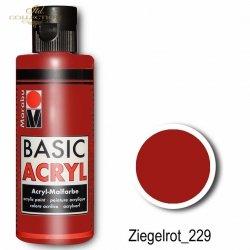 Farba akrylowa Basic Acryl 80 ml Ziegelrot 229