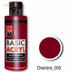 Farba akrylowa Basic Acryl 80 ml Orientrot 009