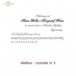 Czcionka na zaproszenie 03
