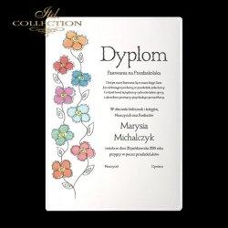Dyplom dla najmłodszych * kwiatki