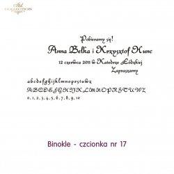 Czcionka na zaproszenie 17