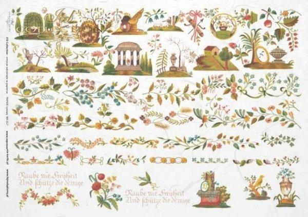 papel de arroz decoupage - motivos decorativos de la ropa*rýžový papír decoupage - ozdobné motivy z oblečení*Reispapier Decoupage - dekorative Motive aus der Kleidung