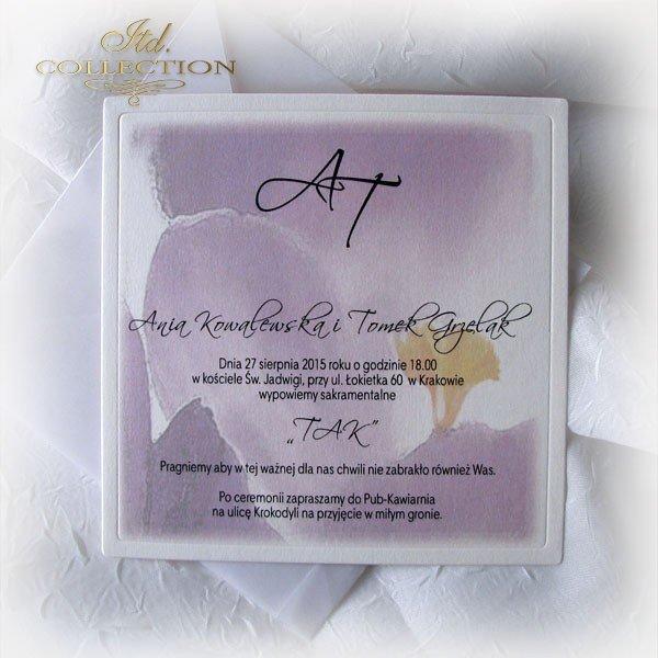 Einladungskarten / Hochzeitskarte 01721_Krokus