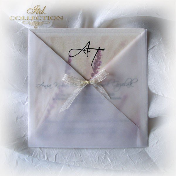 Einladungskarten / Hochzeitskarte 01721_Heideblumen