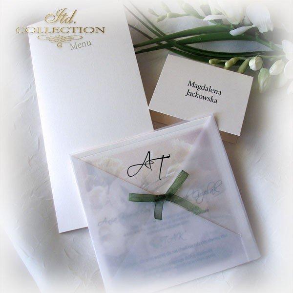 Einladungskarten / Hochzeitskarte 01721_Eustoma