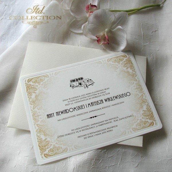 Invitations / Wedding Invitation 01738_car
