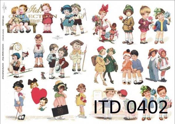 Decoupage paper ITD D0402
