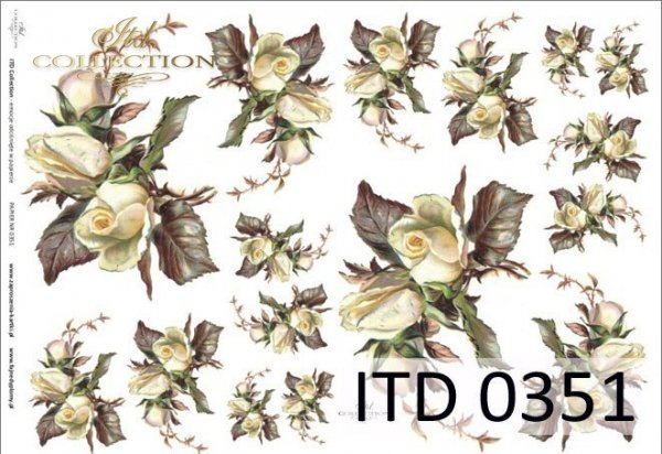 Decoupage paper ITD D0351