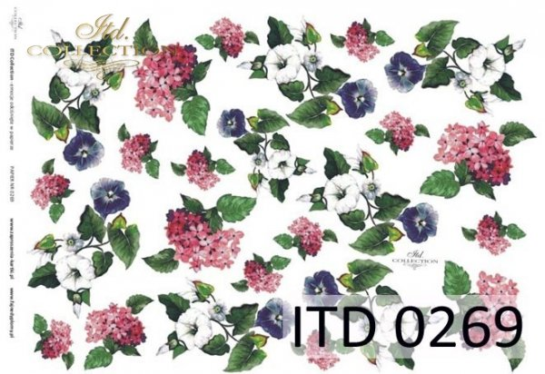 Decoupage paper ITD D0269