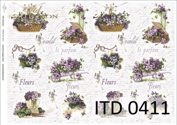 Decoupage paper ITD D0411