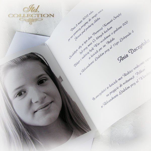 Holy Communion Invitation 1746_17 with photo