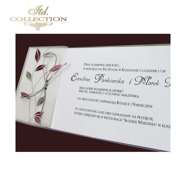 Invitations / Wedding Invitation 1482