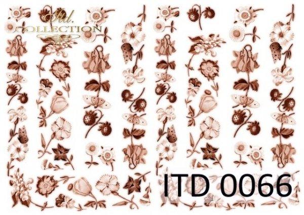 Decoupage paper ITD D0066