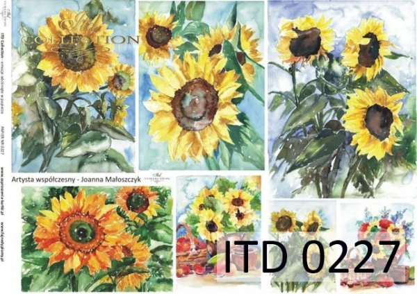 Decoupage paper ITD D0227