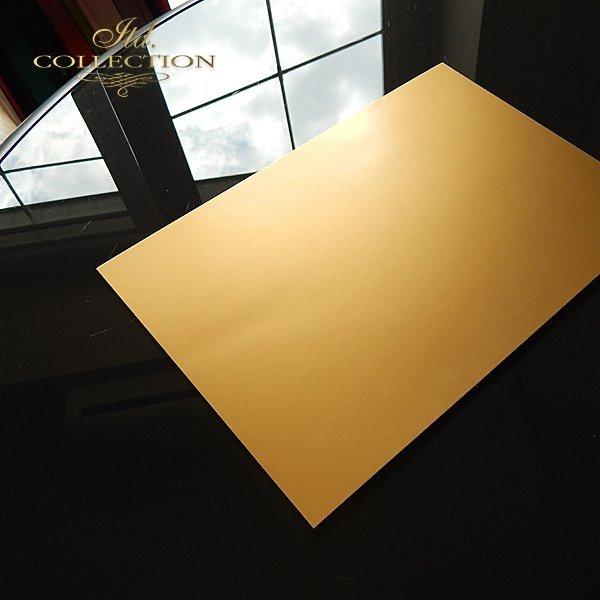 .Papier do scrapbookingu kolor złoty matowy A4 * PSS002