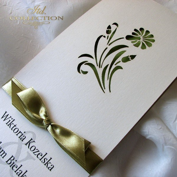 Zaproszenia ślubne / zaproszenie 01722_62_jasna_zieleń