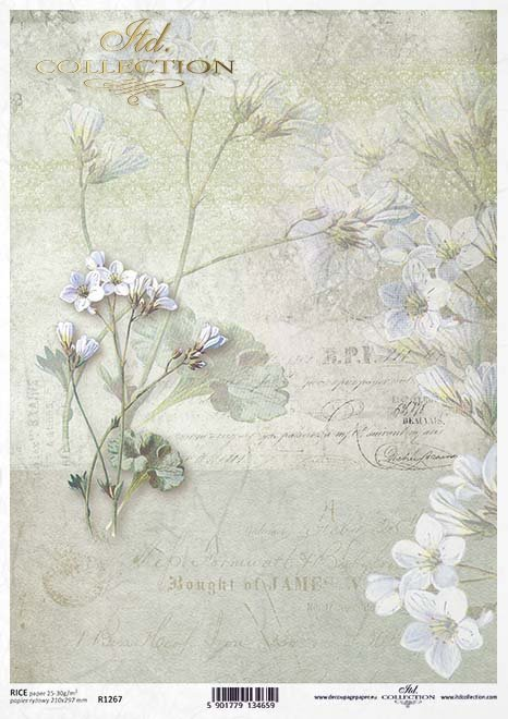 Papel decoupage retro, flores, inscripciones* Бумага декупаж ретро, цветы, надписи*Papier decoupage retro, Blumen, Inschriften