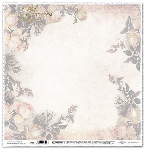 скрапбукинга бумажные цветы, розы, винтаж*álbum de recortes de papel flores, rosas, vintage*Scrapbooking Papierblumen , Rosen, Vintage
