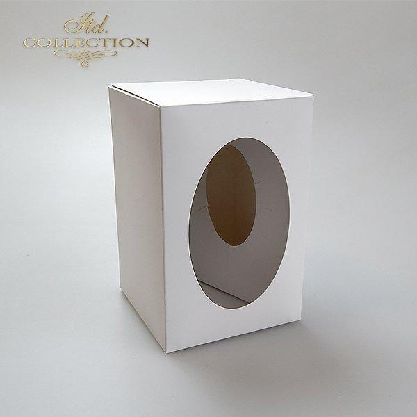 Pudełko na jajko 7 cm*idealne na jajko przeźroczyste dekorowane decoupage lub scrapbookingiem