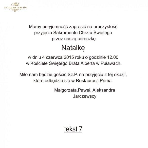 Tekst na chrzest - TC7