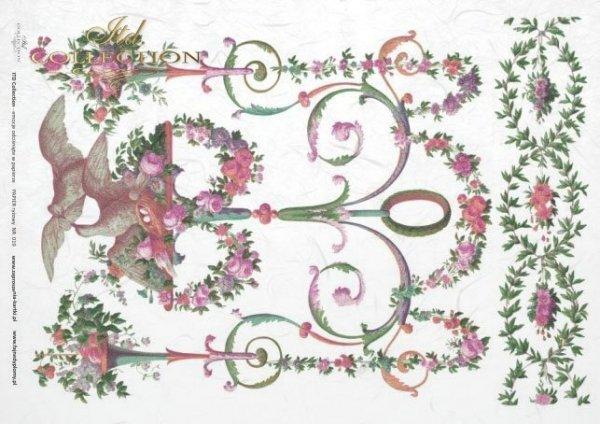 Reispapier Decoupage - dekorative Malerei*rýžový papír decoupage - dekorativní malba*papel de arroz decoupage - pintura decorativa