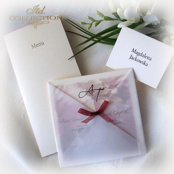 Einladungskarten / Hochzeitskarte 01721_Pfingstrose