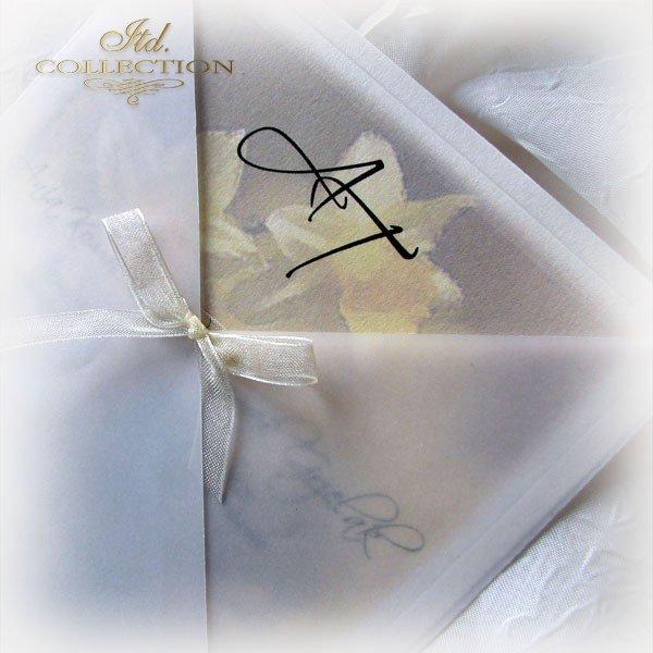 Einladungskarten / Hochzeitskarte 01721_Narzisse