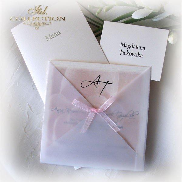 Einladungskarten / Hochzeitskarte 01721_Rose