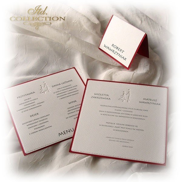 Einladungskarten / Hochzeitskarte 1710