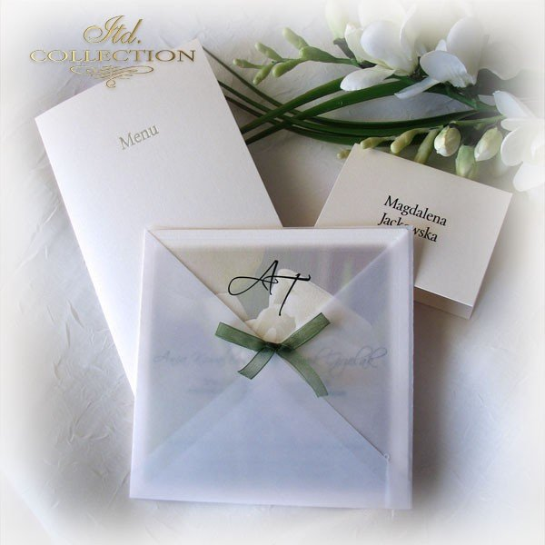 Einladungskarten / Hochzeitskarte 01721_Tulpe